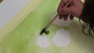 Peinture Aquarelle : Roses en lavis