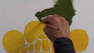 Peinture à l'huile : Fruits à l'étude